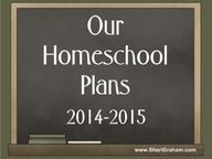 OUR HOMESCHOOL PLANS