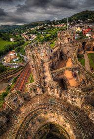 Conwy Castle, Wales,