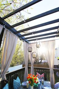 A step by step video tutorial for how to build a pergola, including incorporating an existing deck.