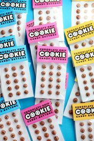 Chocolate Chip Cookie Candy Buttons | Bakerella