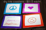 diy tile coasters #t...