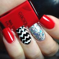 Chevron and glitter...