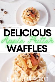 These quick and easy apple fritter waffles are the perfect fall treat! Try out this delicious breakfast, brunch, or snack recipe today!