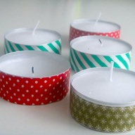 Washi-Tape-Tealights
