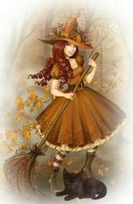 Cute Autumn Witch wi