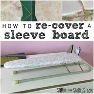 how to recover a mini ironing board