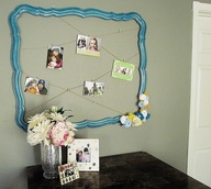 perfect idea for all the old empty frames I have!
