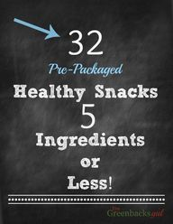 Healthy Snack List: