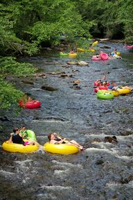 Tube down Deep Creek in the Great Smoky Mountains near Bryson City NC