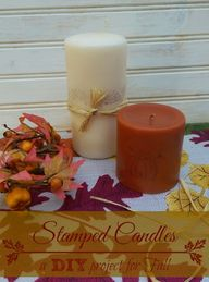 Stamped Candles - A