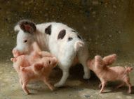 Felted piggies. Was