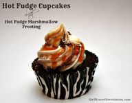 Hot Fudge Cupcakes w