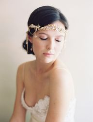 gold boho head piece