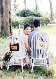 Wedding chairs for a
