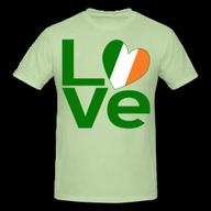 LOVE in green with a