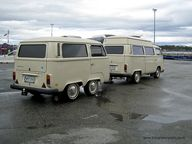 VW Camper Van and Ma