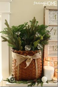 Evergreen basket wit