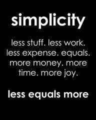 Keep it simple, swee