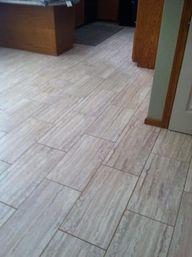 TrafficMASTER Ceramica, 12 in. x 24 in. Roman Travertine Beige Resilient Vinyl Tile Flooring (30 sq. ft. / case), 42837C at The Home Depot - Mobile