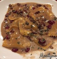 The ravioli cooked up perfectly al dente with the sweetness of the butternut squash followed by the richness of the butter and crunchy pecans and chewy cranberries. I'll definitely be making this again.