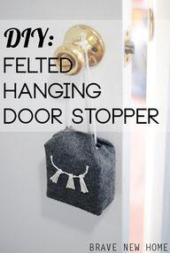 DIY Felted Hanging D