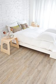 Cork Flooring - Were getting this at home in our new house! And Im gonna have yellow walls… Itll be great.
