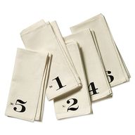 Numbered napkins by