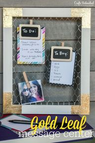 DIY Message Center W