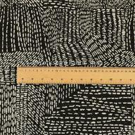 Semi Plain Pattern In Black Colour Chenille Upholstery Fabric JO-708