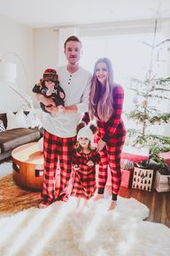 Matching Red Buffalo Plaid Family Christmas Pajamas | BondGirlGlam.com // A Fashion, Beauty & Lifestyle Blog by Irina Bond