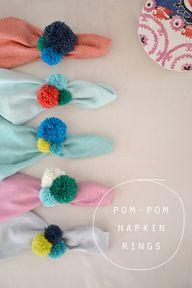 Party Pom-Pom Projects: Pom-Pom Napkin Rings