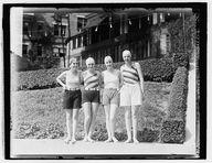 Wardman Pool, Left to right: Hermine Wittgenstein, Lillian Kahn, Mayone Blumefeld, Rosalie Weinberg, 1927