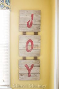 Fence Board Joy SIgn