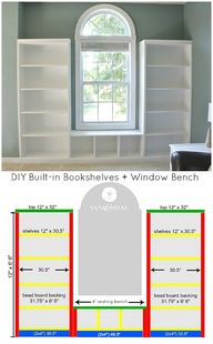 DIY Built-in Bookshe