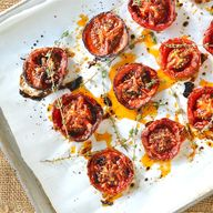 roasted tomatoes wit