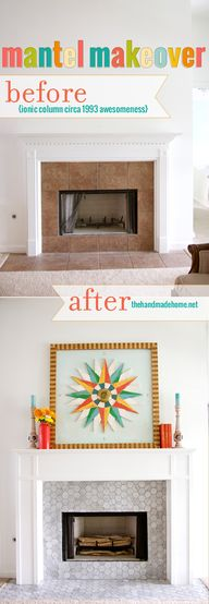 salvaged mantel make