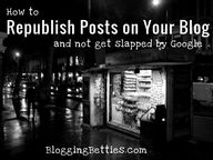 How To Republish Pos
