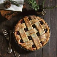 Rustic cranberry pie