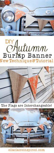 DIY Autumn Banner us