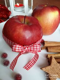 Christmas apple deco