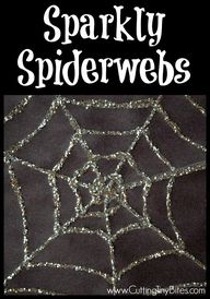 Sparkly Spiderweb Gl