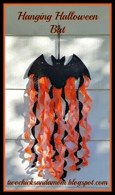 twochicksandamom.blogspot.com: Hanging Halloween Bat