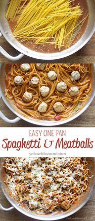 Easy One Pan Spaghet