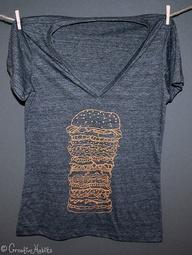 burger shirt