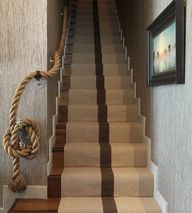 Rope handrail and st
