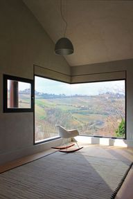 """Italian #architecturefirm, Barilari Architteti created amazing views by transforming these #windows into #landscapeframes at the """"Picture House"""" in Ripatransone, Italy. The windows stretch effortlessly around the contours of the home, creating a picturesque view of the surrounding outdoors."""