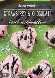 Chocolate Marshmallow Valentine Treat: Heart-Shaped Strawberry & Chocolate Marshmallows