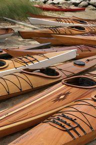 Amazing handmade wooden kayaks, by Chesapeake Light Craft