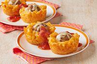 Mini Mac & Cheese Meatball Cups Receta