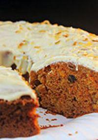 Pastel de zanahoria y piña con cobertura de queso crema Receta